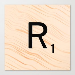 Scrabble Letter R - Large Scrabble Tiles Canvas Print
