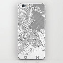Doha Map Line iPhone Skin