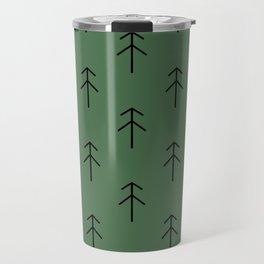 Spruces on green Travel Mug
