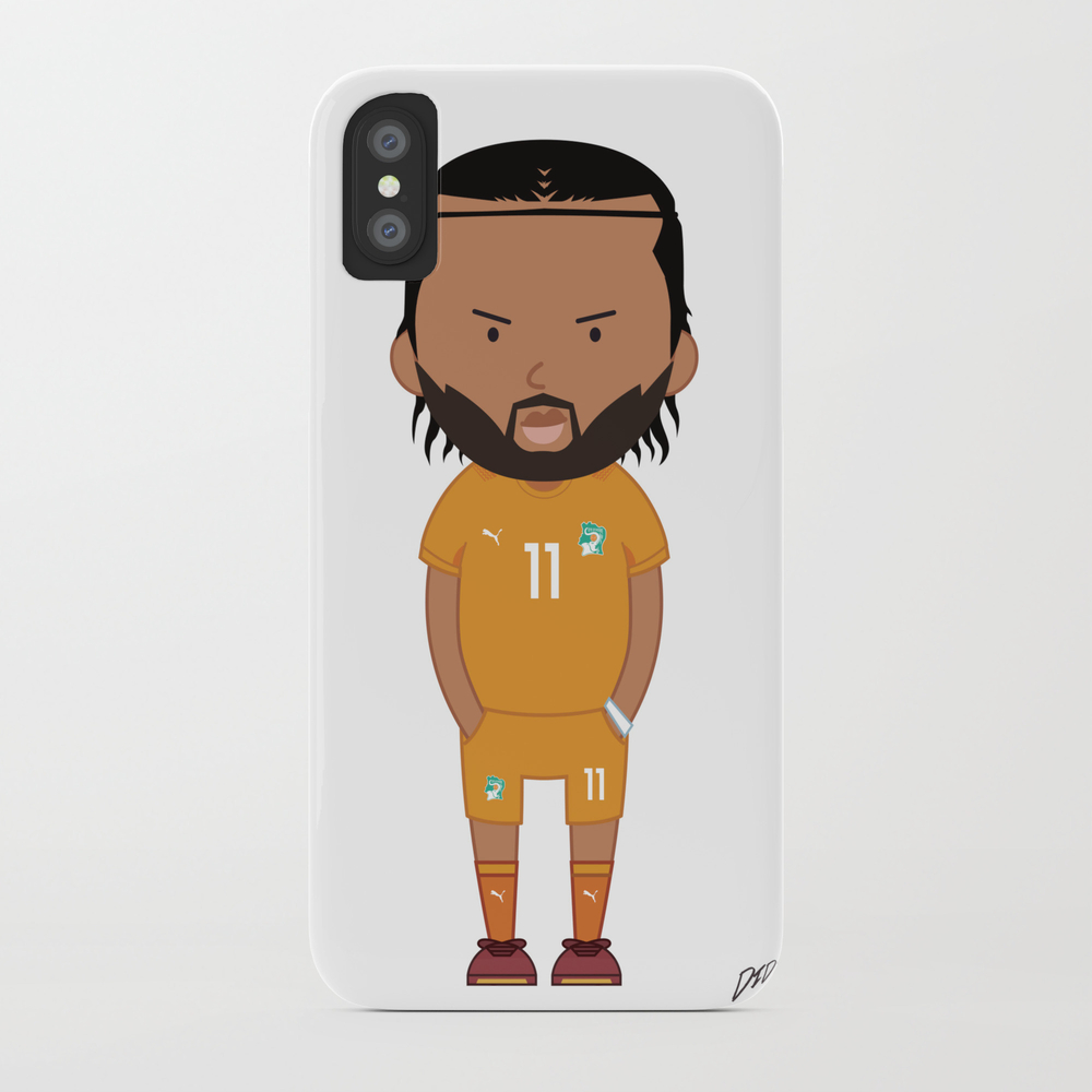 Didier Drogba - Ivory Coast - World Cup 2014 Phone Case by Toonsoccer PCS9022451
