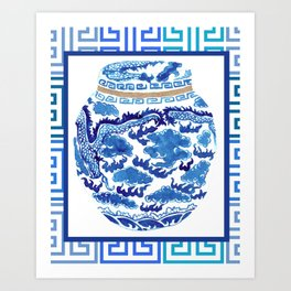 Chinoiserie Ginger Jar No. 2 Art Print