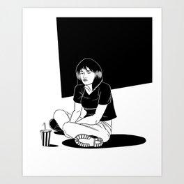 B&W Girl III Art Print