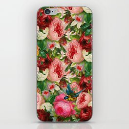 Colorful Floral Pattern | Je t'aime encore iPhone Skin