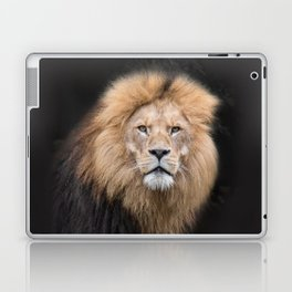 Closeup Portrait of a Male Lion Laptop & iPad Skin