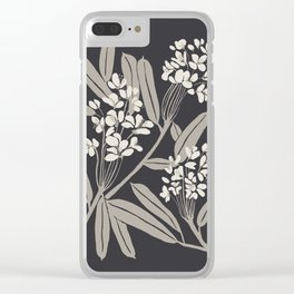 Boho Botanica Black Clear iPhone Case