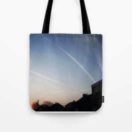 Vapour Trails, South Hayling. Tote Bag