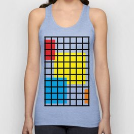 Modern geometric background, red, yellow, green,orange and blue  #society6 #decor #buyart #artprint Unisex Tank Top