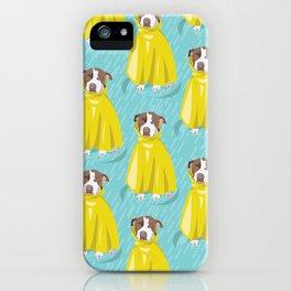 pit bull in rain coat iPhone Case