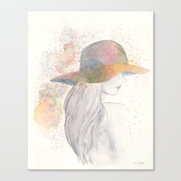 Girl with a hat Canvas Print