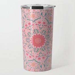 Flower Rounds Mandala Travel Mug