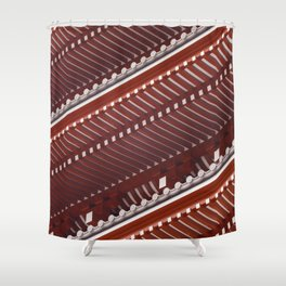 Pagoda roof pattern Shower Curtain
