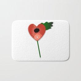 Poppy Heart Bath Mat