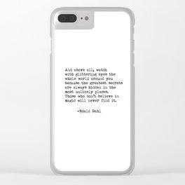 Roald Dahl Glittering Eyes Clear iPhone Case