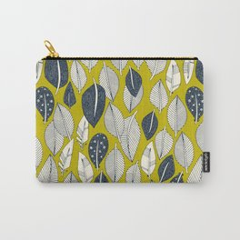 leaves and feathers chartreuse Carry-All Pouch