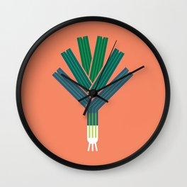 Vegetable: Leek Wall Clock