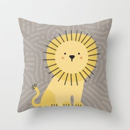 Nicco the lion Throw Pillow