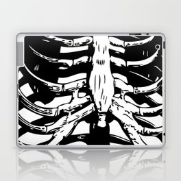 Skeleton Ribs | Black and White Laptop & iPad Skin