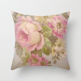 Summer Roses Throw Pillow