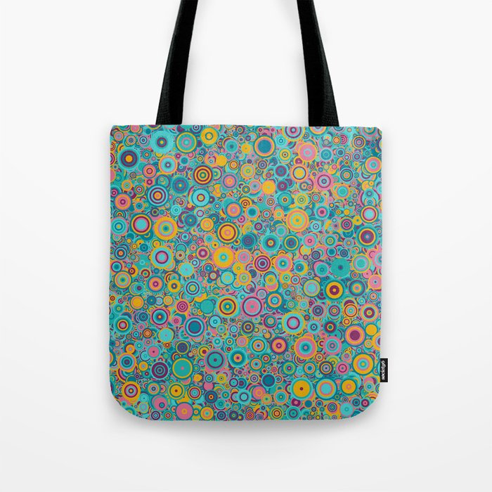 Psychedelic funky Seventies disco party Tote Bag
