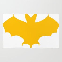 Orange-Yellow Silhouette Of a Bat  Rug