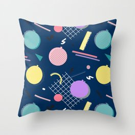 80s Xmas #society6 #retro #xmas Throw Pillow