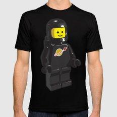 Vintage Lego Black Spaceman Minifig Mens Fitted Tee MEDIUM Black