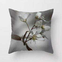 The fragile start of spring Throw Pillow