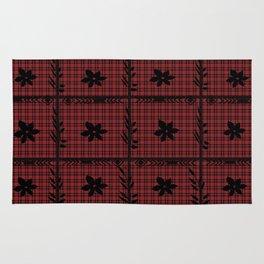flower on flannel pattern Rug