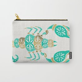 Scorpion – Turquoise & Gold Carry-All Pouch