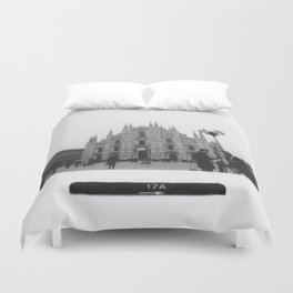 Milan in Black & White Duvet Cover