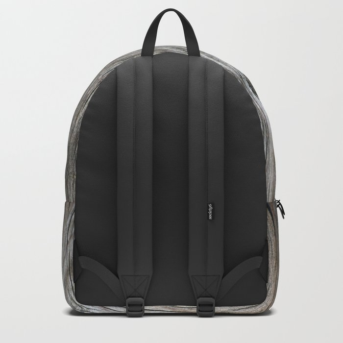 Real Aged Silver Wood Backpack