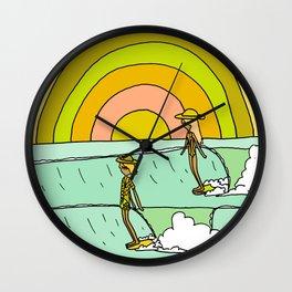 follow the light rainbow sunrise daydream hang 10 Wall Clock