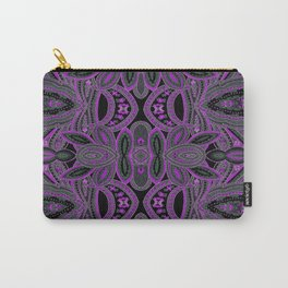 Paisley 5 Purple Carry-All Pouch
