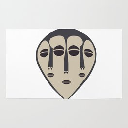 African Tribal Mask No. 5 Rug
