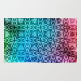 Colourful Circles Background Rug