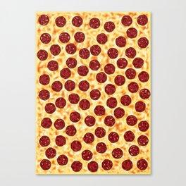 Pepperoni Pizza Pattern Canvas Print