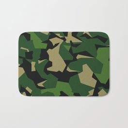 Camouflage Splinter Pattern Green Barret Bath Mat