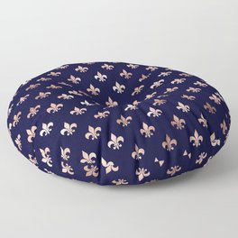 Royal Blue Rose Gold Pattern Floor Pillow