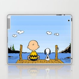 Charlie Brown Snoopy On Dock Laptop & iPad Skin
