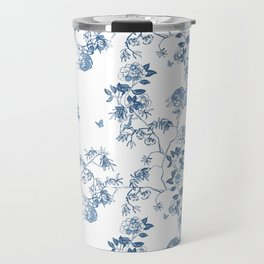 Chinoiserie in White Travel Mug
