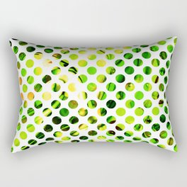 Fluid Dot (Green Version) Rectangular Pillow