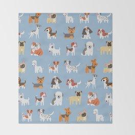 ENGLISH DOGS Throw Blanket