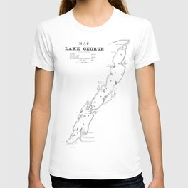 1853 Map of Lake George T-shirt