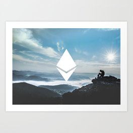 Ethereum Print Art Print