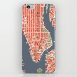 New York city map classic iPhone Skin