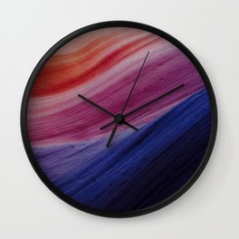 Colorful Waves Wall Clock