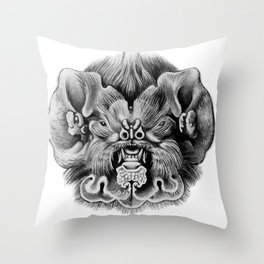 Haeckel Chiroptera Throw Pillow