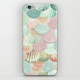 MERMAID SHELLS - MINT & ROSEGOLD iPhone Skin