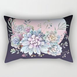 Succulent full moon Rectangular Pillow