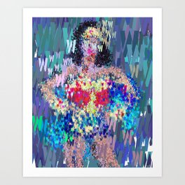 Superhero Type Art Comics Woman Art Print